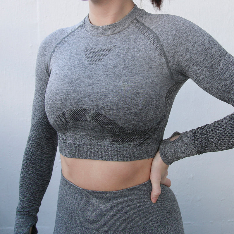 NeoFlex Long Sleeve Yoga Crop Top