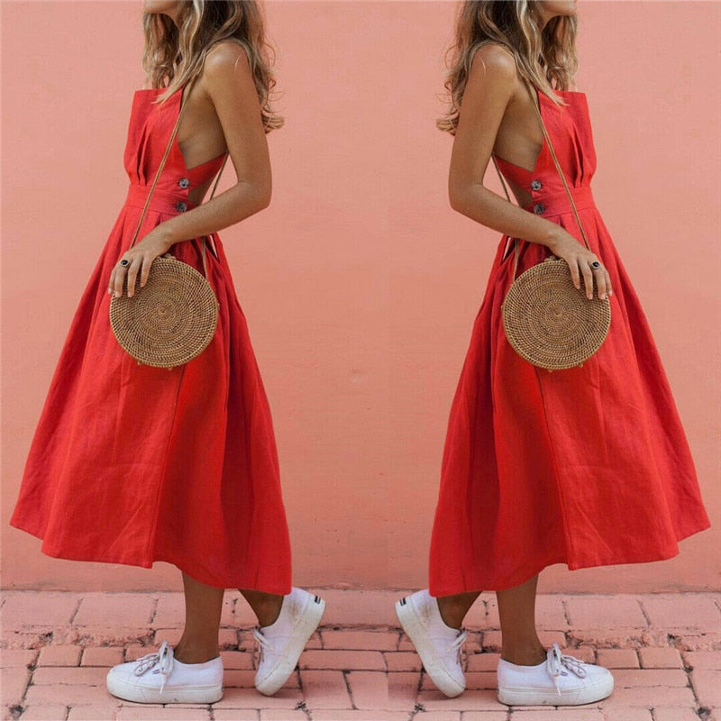 Sunday Cherry Boho Dress - TheMacLyfAus Leggings