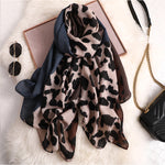 Royal Blue Trimmed Leopard Scarf - TheMacLyfAus Leggings