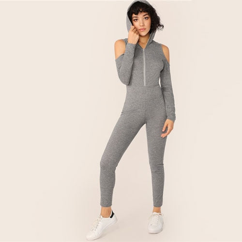 Core-Tech Gray Jumpsuit - TheMacLyfAus Leggings