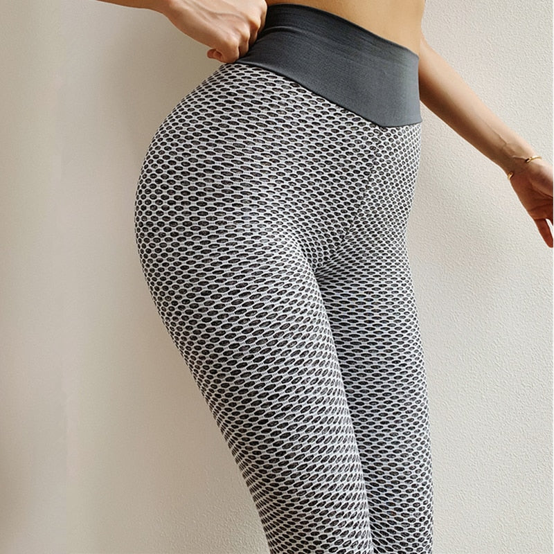 Gray Flex Mesh Leggings
