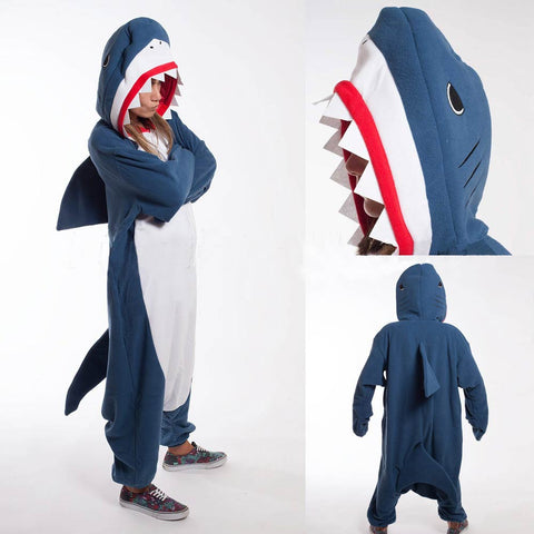 Blue Shark Cosplay Costume