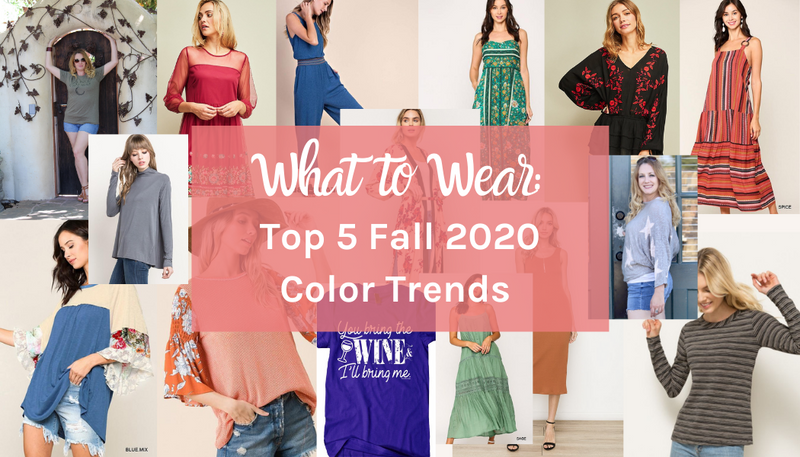 Fall Fashion Color Trends 2020
