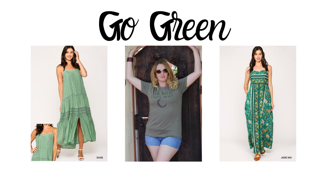 Go Green - Fall Fashion Color Trends 2020 say Green is IN