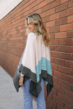 Space Knit Colorblock Ruana