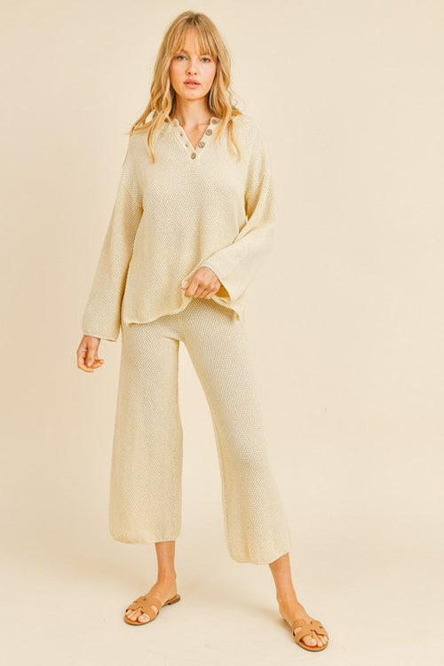 Oversized Sweater and Pants Set - HeartsEase Clothing