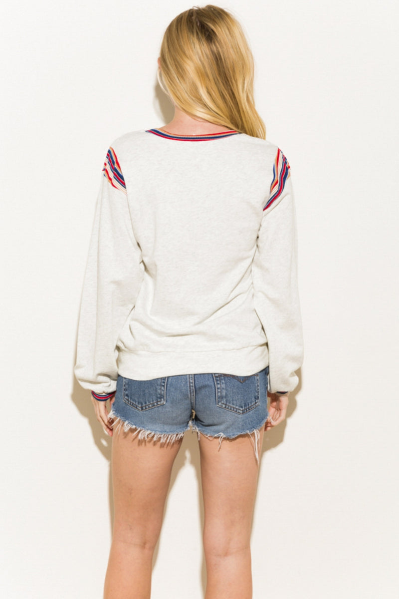 ONE LEFT French Terry Pullover - HeartsEase Clothing