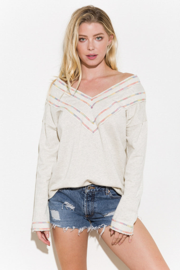 Temple - Rainbow Stitch French Terry Pullover