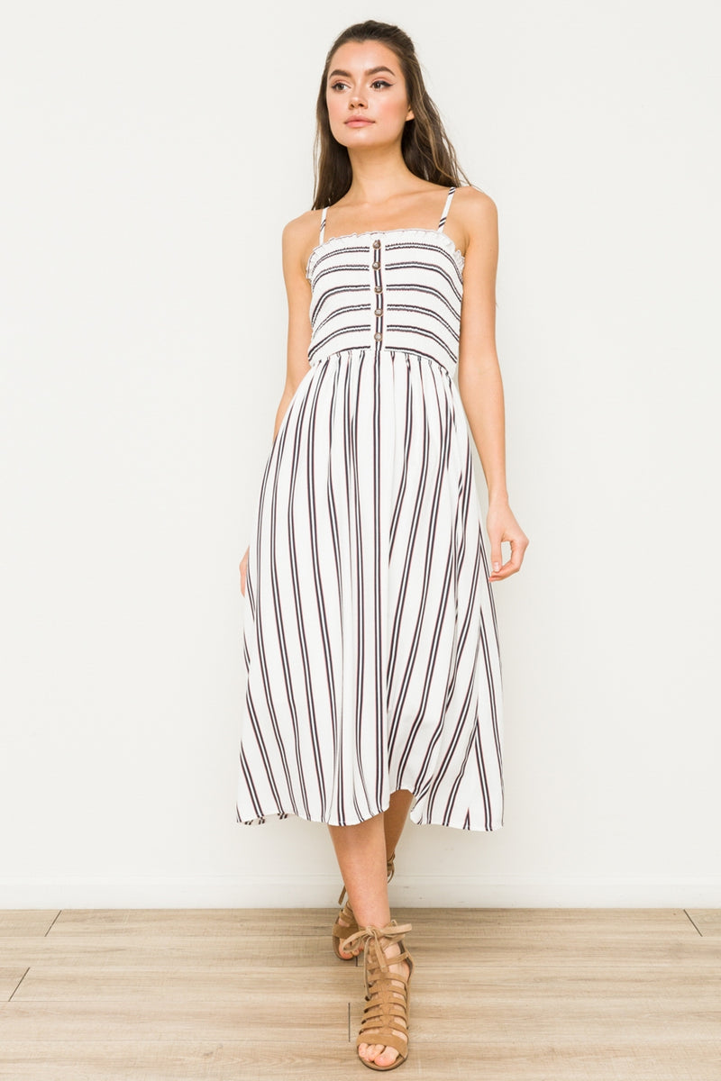 Striped Midi Dress - HeartsEase Clothing