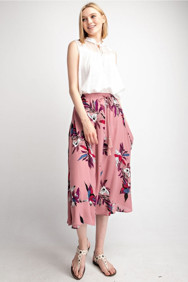 Boho Tropical Skirt - HeartsEase Clothing