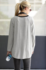 Color Block Contrast Long Sleeve Tee - HeartsEase Clothing