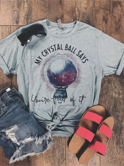 Crystal Ball Graphic Tee - HeartsEase Clothing