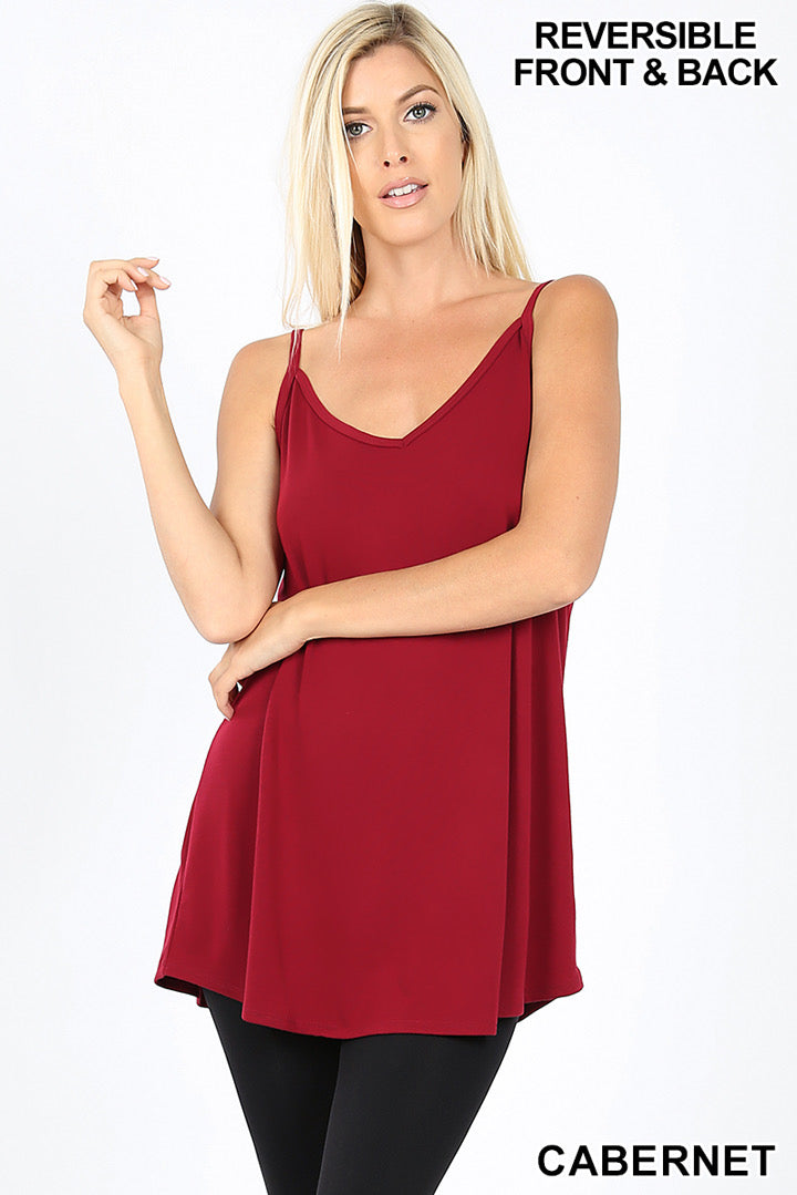 Reversible Cami - Cabernet - HeartsEase Clothing