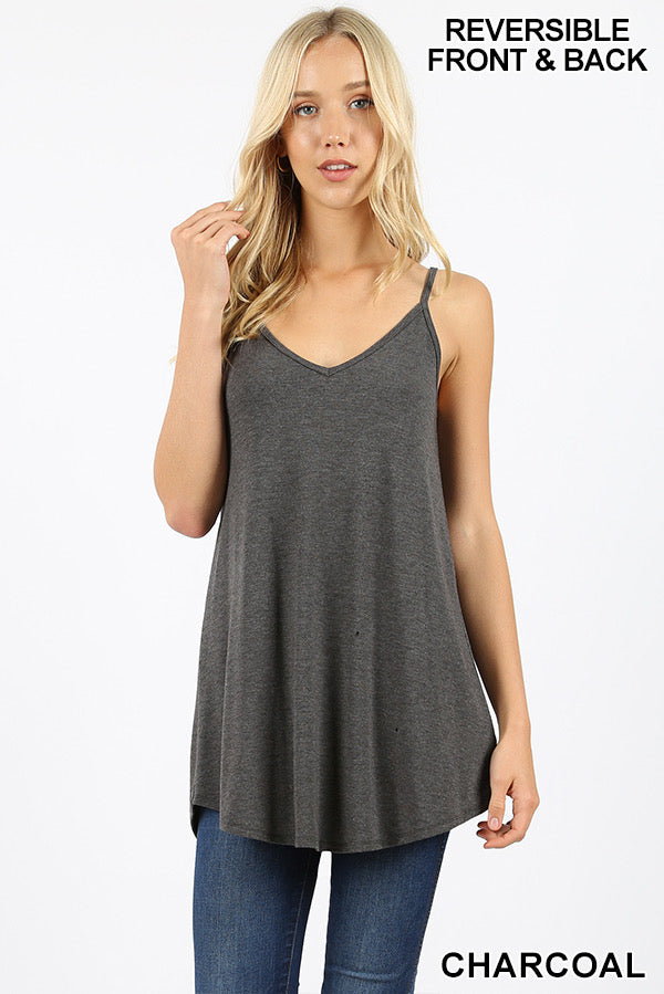 Reversible Cami - Charcoal - HeartsEase Clothing