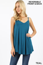 Reversible Cami - Teal - HeartsEase Clothing