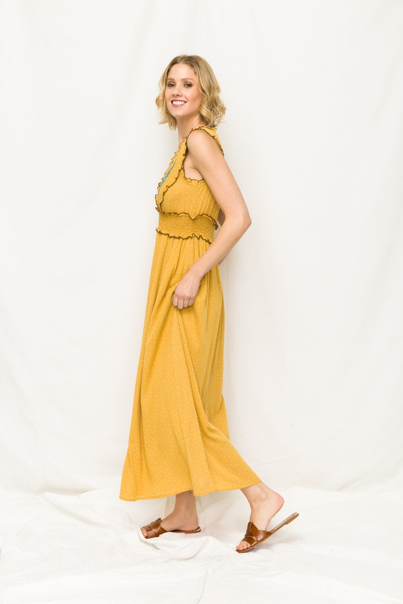 Sleeveless Maxi with Smocked Waist - HeartsEase Clothing