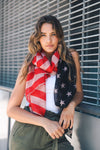 Stars and Stripes Scarf - HeartsEase Clothing