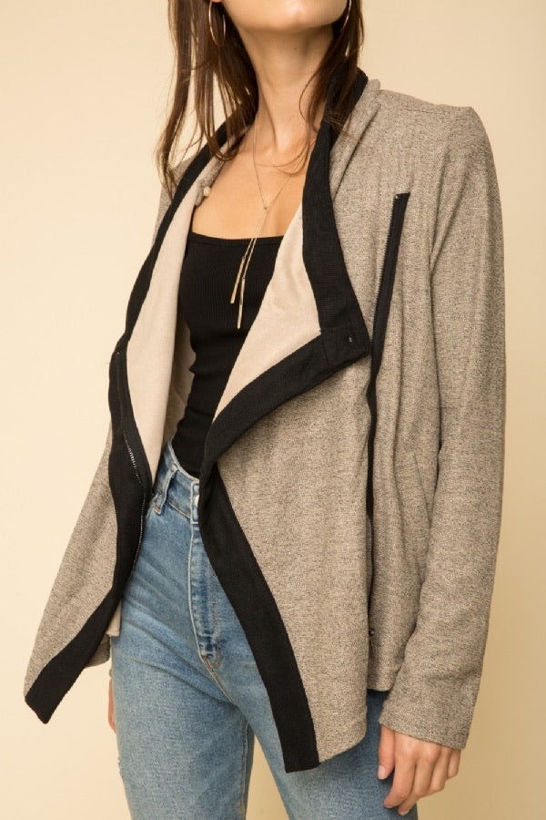 Ponte Drape Jacket - HeartsEase Clothing