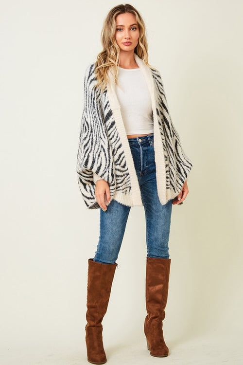 Animal Print Cardigan - HeartsEase Clothing