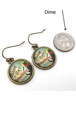 Black Cat Fortune Teller Earrings - HeartsEase Clothing