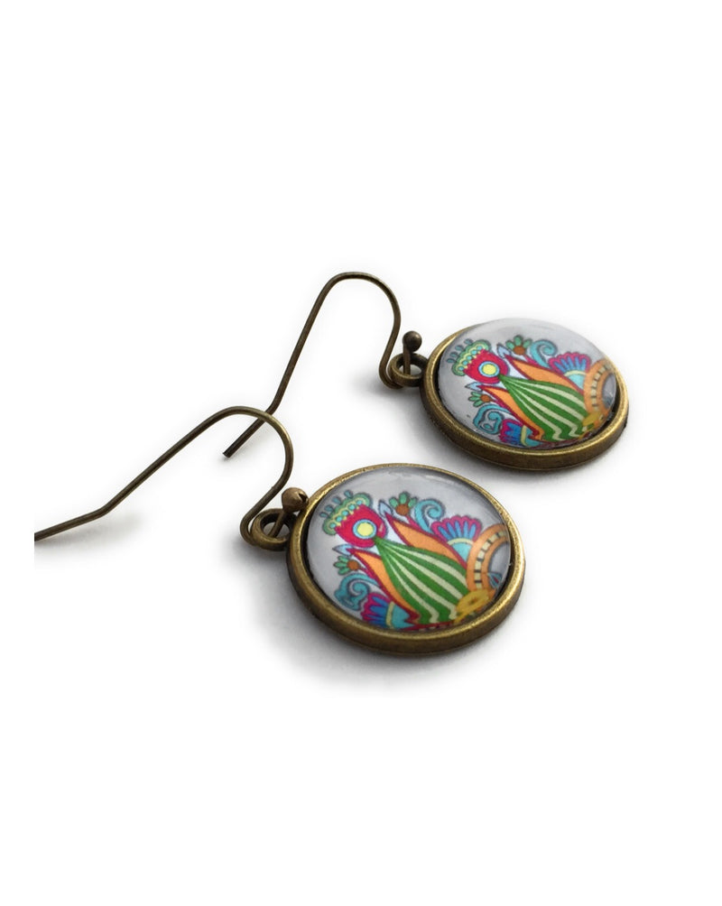 Multi-Color Boho Flower Earrings - HeartsEase Clothing