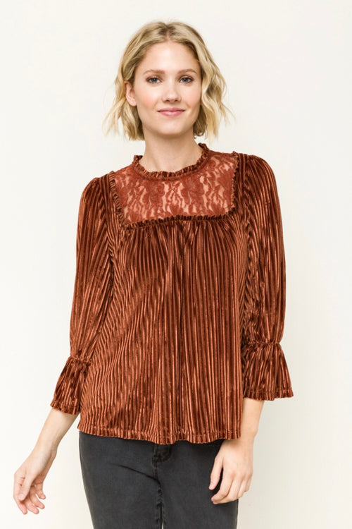 Lace Yoke Top - HeartsEase Clothing