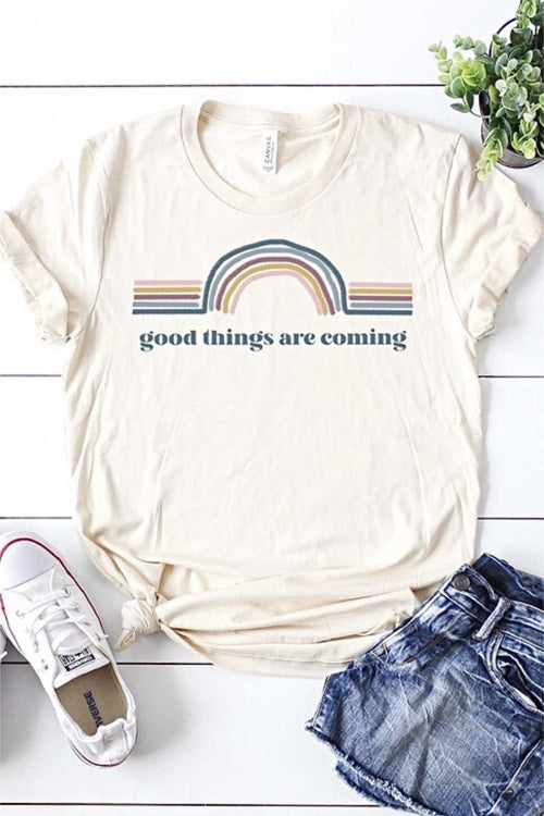 Good Things Are Coming Tee - HeartsEase Clothing