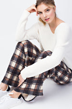 TWO LEFT Miru Plaid Wide Leg Pants - HeartsEase Clothing