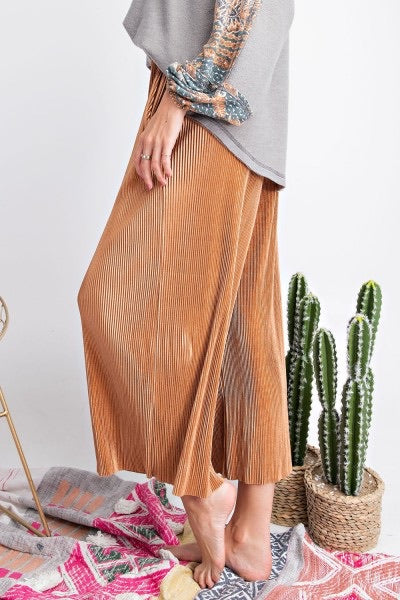 Orla - Pleated Satin Wide Pants