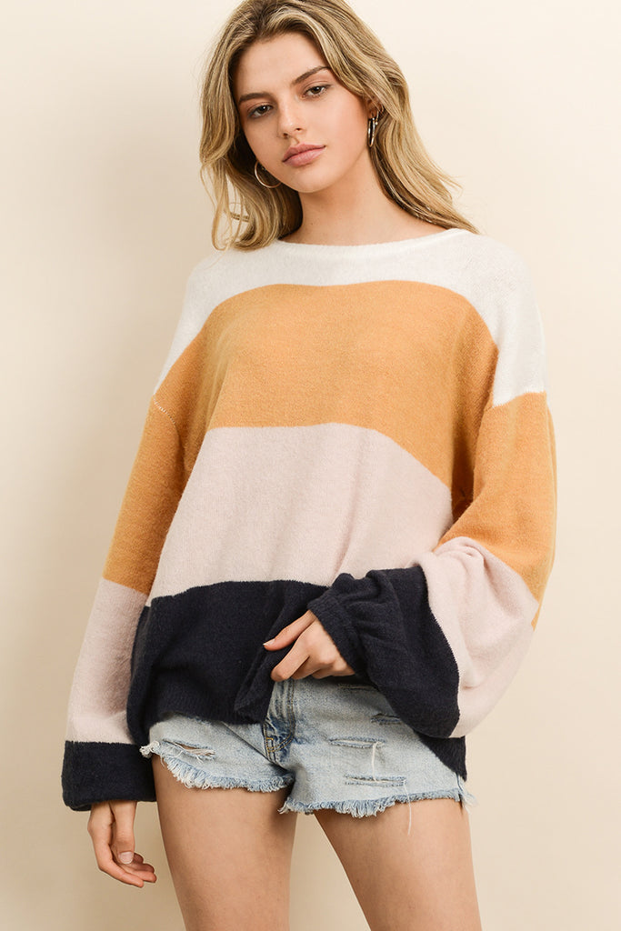 Claire - Multi-Color Knit Pullover