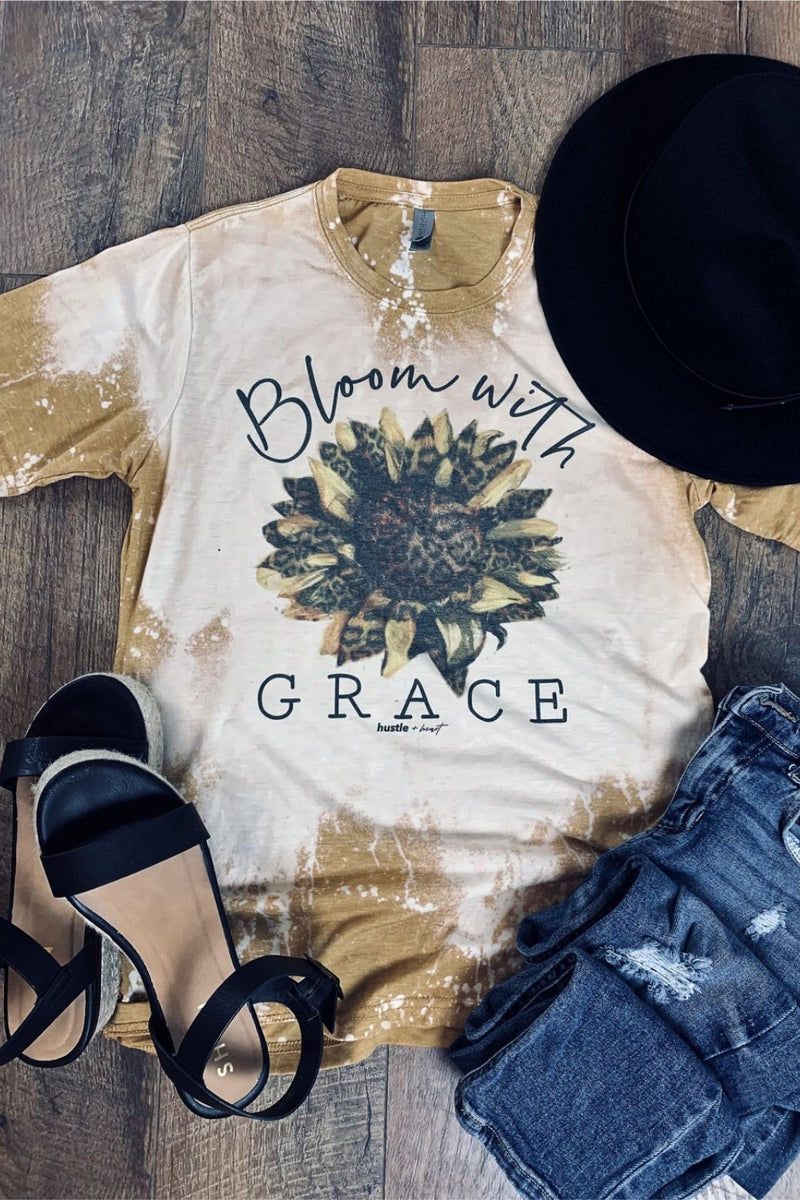 ONE LEFT Bloom With Grace Graphic Tee - HeartsEase Clothing