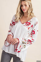 Flower Mix Rayon Gauze Top