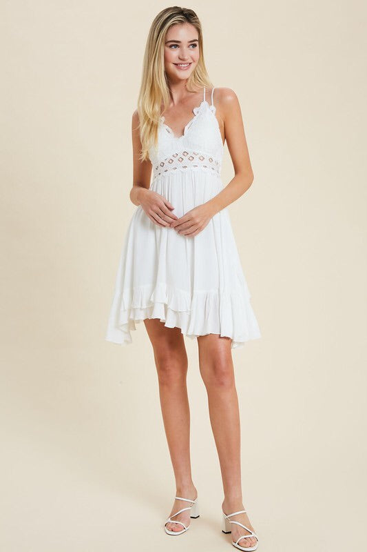 Scalloped Lace Bralette Dress - HeartsEase Clothing