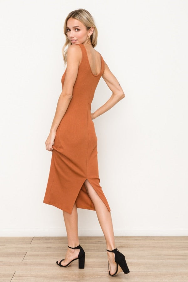 Scoop Neck Midi Dress - HeartsEase Clothing