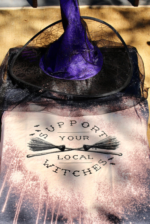 Support Local Witches Graphic Tee - HeartsEase Clothing