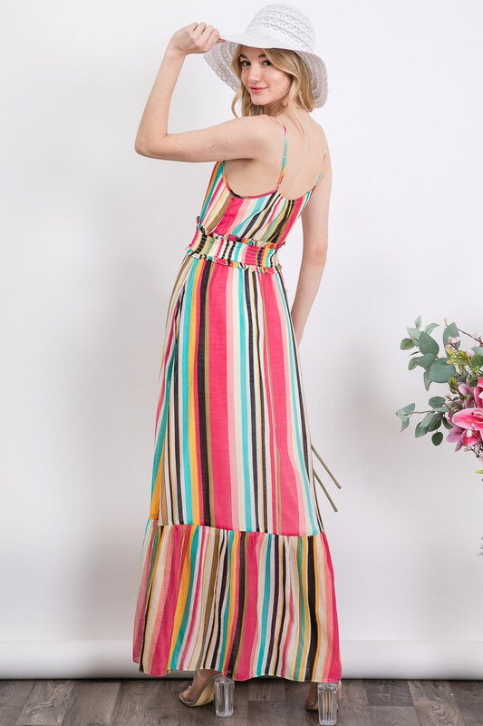 Striped Maxi with Ruffled Hem - HeartsEase Clothing