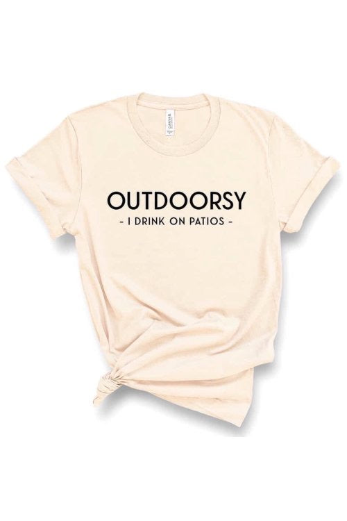 Outdoorsy Graphic Tee - Cream - HeartsEase Clothing