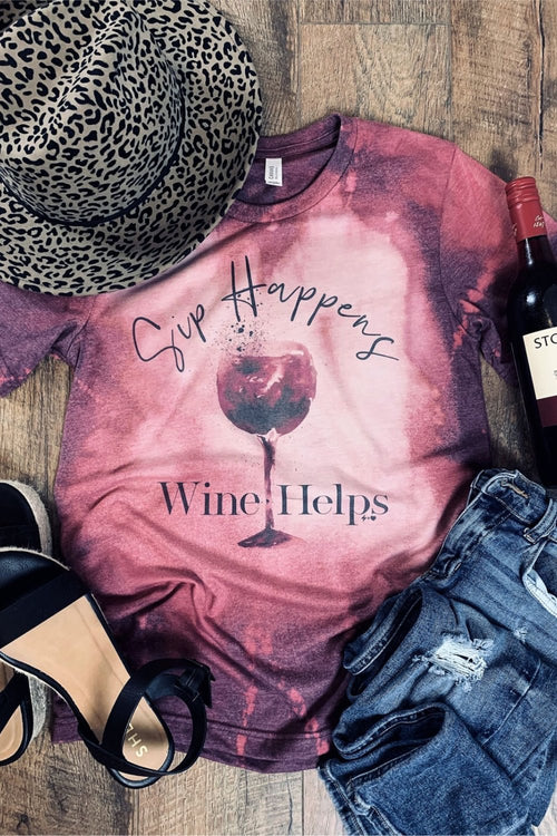 Sip Happens Graphic Tee - HeartsEase Clothing