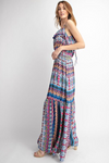 Tribal Print Ruffle Maxi Dress - HeartsEase Clothing