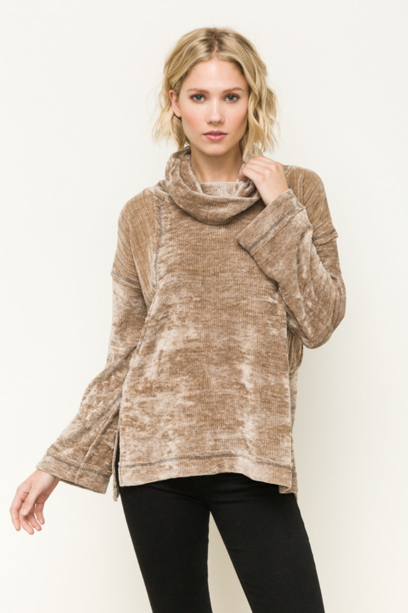 Velvet Turtleneck Sweater - HeartsEase Clothing