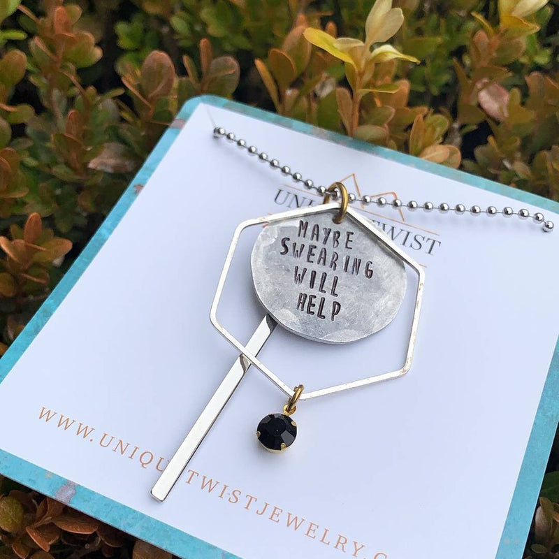 Maybe Swearing Will Help Necklace - HeartsEase Clothing