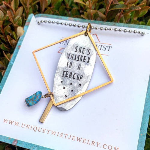 Whiskey In A Teacup Necklace - HeartsEase Clothing