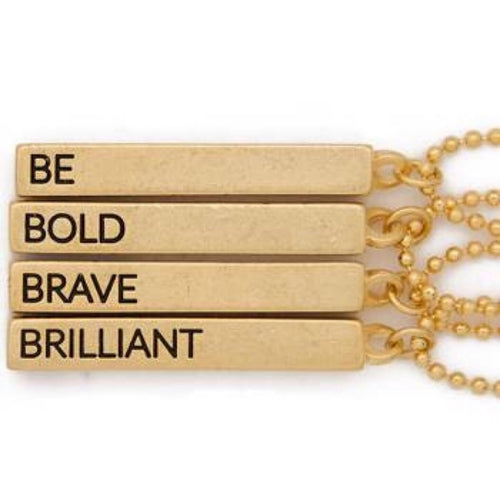 Be Bold Brave Brilliant Cube Pendant - HeartsEase Clothing