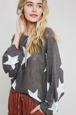 Star Dolman Sweater - Olive - HeartsEase Clothing