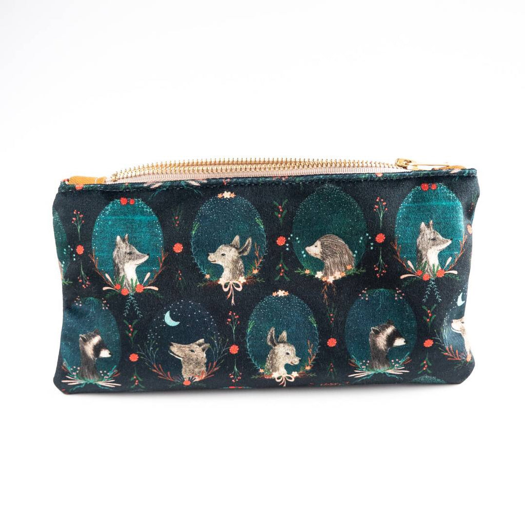 Woodland Creature Luxe Velvet Pouch
