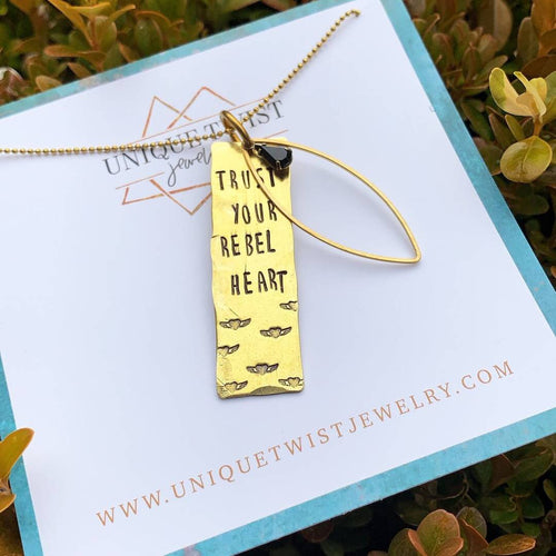 Trust Your Rebel Heart Necklace - HeartsEase Clothing