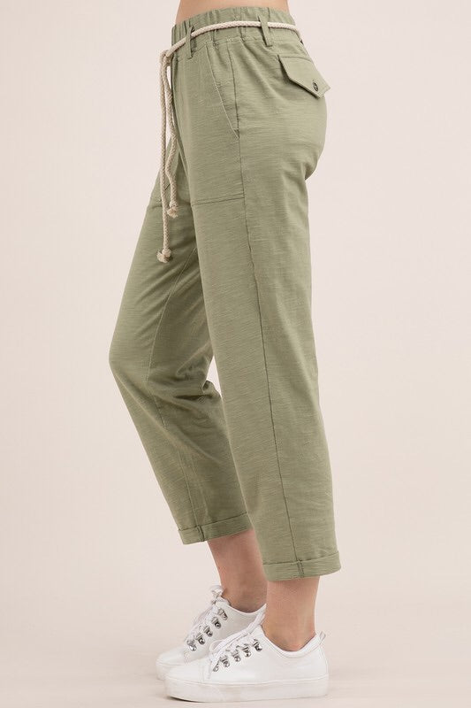 Dayton - Bamboo Cotton Pants in Sage - HeartsEase Clothing