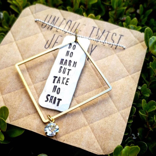Do No Harm Take No Shit Necklace - HeartsEase Clothing