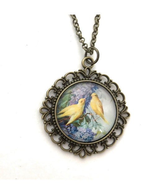 Lilac and Canary Necklace - HeartsEase Clothing