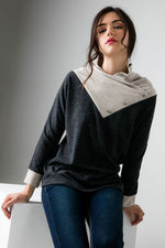 Knit Cowl Neck Top - HeartsEase Clothing